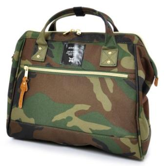 Harga Authentic Japan anello 2 way boston bag shoulder bag Japan hot selling (Large size, CAMO color)