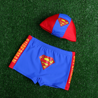 Harga Superman boys boxer boy hat swimming trunks children's swimming trunks