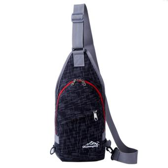 Harga 360WISH Fashion Waterproof Nylon Outdoor Sports Chest Bag Crossbody Bag Single Shoulder Bag - Black - intl