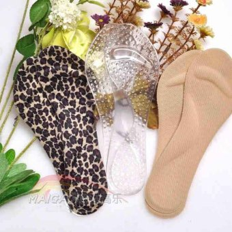 Harga Mellow music silicone insoles cushion soles seventh arch cushion pad heels massage anti skid women pain (Other size + Transparent)