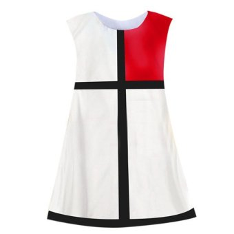 Harga Azone Sleeveless Grid Color Splicing Dress (White) - intl