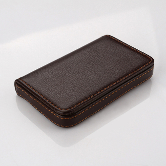 Waterproof Business ID Credit Card Wallet Holder PU Leather Pocket Case Box