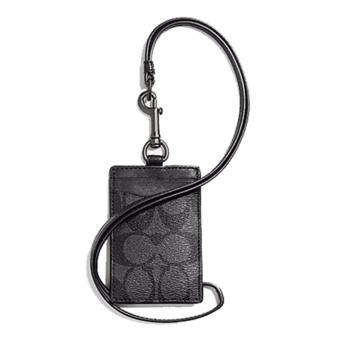 Harga Coach ID LANYARD IN SIGNATURE (F58106) Black