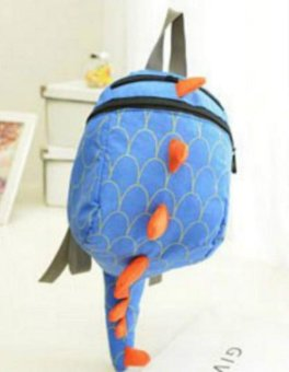 Harga Toddler Kid Cute Cartoon Backpack Animal Shaped Shoulder Book Bag Gift Dinosaur (blue) - intl