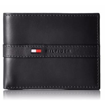 Harga Tommy Hilfiger Men's Ranger Leather Passcase Wallet with Removable Card Case(black) - intl