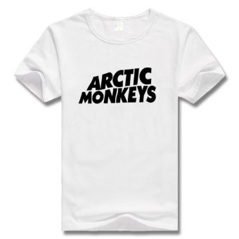 Harga Fashion WoMen Girl Power arctic monkeys Simple words 100% Graphic Cotton WoMen's T-Shirt (White) - intl