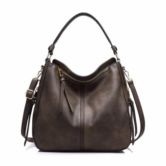 REALER brand handbag women shoulder bag female casual large tote bags high quality artificial leather ladies hobo handbag(coffe) - intl