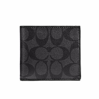 Harga Coach COIN CASE IN SIGNATURE (F75006) CHARCOAL/BLACK