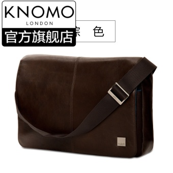 Harga Knomo British KINSALE13-inch leather multifunction computer bag diagonal shoulder business briefcase men's bag (Brown-13 inch)