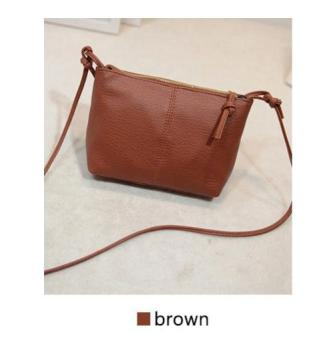 Harga Korean Style Starbags Buckle Mini Shoulder Bag LB-CF03-BROWN