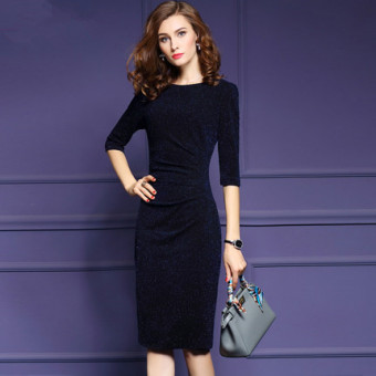 Harga Women's slim fit Fil-Lumiere midi dress