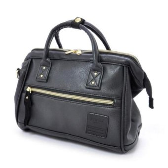Harga Authentic anello 2 Way Boston Bag Shoulder Bag Japan (Leather) HOT Selling (size: mini; color: black)