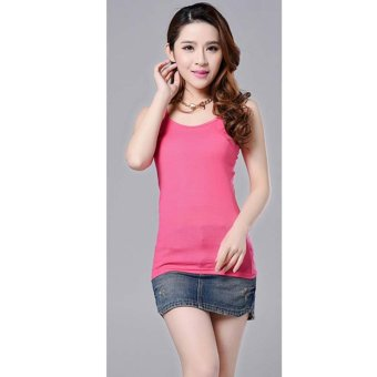 Harga fashion Sleeveless Camisole tank top(red) - intl