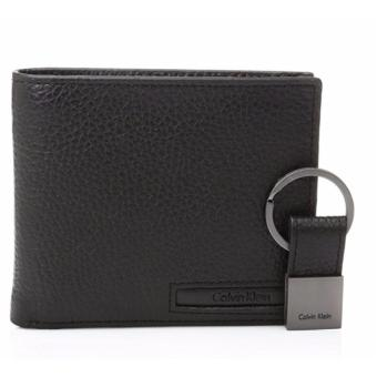 Harga Calvin Klein Men's Pebble Leather Billfold with Money Clip and Key Fob - intl