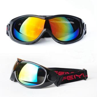New 2017 Men Women Skiing Eyewear Ski Glasses Goggles 6 Colors Available 039 Black - intl