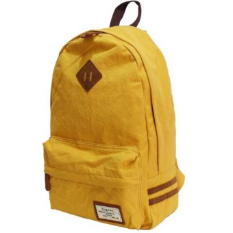 Harga Japan original canvas backpack colorful school rucksack hot selling in Japan (Yellow color)