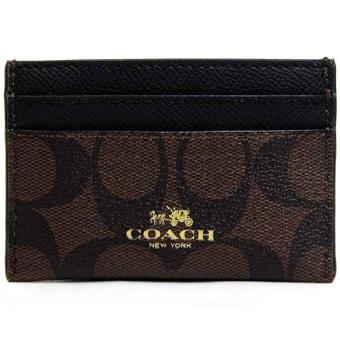 Harga Coach Card Case In Signature Canvas Card case Brown / Black # F63279