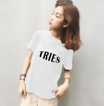 Women's short sleeve t-shirt in the spring of korean fan student summer was thin wild korean version of the loose sleeve t blood korean compassionate tide (811 white)