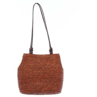 HengSong Fashion Casual Straw Bags Women Seaside Bag Coffee