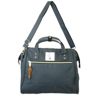 Harga Authentic Japan anello 2 way boston bag shoulder bag Japan hot selling (Large size, Charcoal Grey)