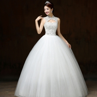 Harga Luxury diamond wedding dress lace wedding gown - Intl
