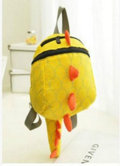 Harga Toddler Kid Cute Cartoon Backpack Animal Shaped Shoulder Book Bag Gift Dinosaur (yellow) - intl