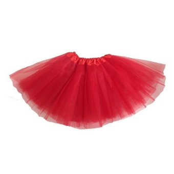Harga Adults Teens Girl Tutu Ballet Skirt Tulle Costume Fairy Party Hens Nigh Red - intl