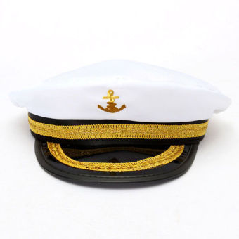 Yacht Captain Skipper Sailor Boat Marine Anchor Cap Navy Hat Costume Party Dress