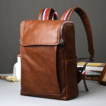 Harga Old School Backpack Korean British Rucksack Bag Men Bag Women Bag Academy School Back Pack Fashion Bag PU Leather - intl(...)