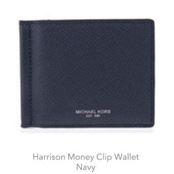 Harga MICHAEL KORS MONEY CLIP WALLET (NAVY BLUE)