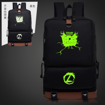 Harga Luminous lol league GAME ig OMG edg shoulder bag middle SCHOOL students schoolbag adc WE backpack FOR men and women (Green luminous edg)