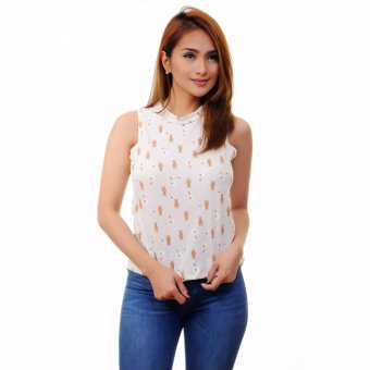 Harga Stamped Longback Casual Printed Top (Teddy Bear)
