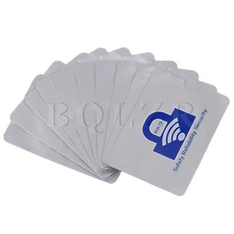 Harga RFID Blocking Sleeves Card Holders Set of 10 Silver - intl