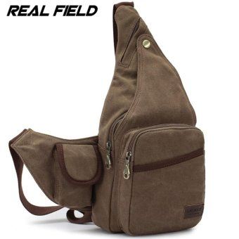 Men Canvas Chest Bag Man Crossbody Shoulder Waist Sling Beg - intl