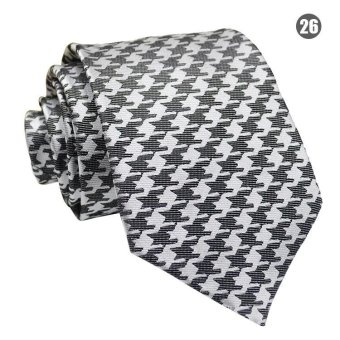 Harga Amart Fashion Men Plaid Tie Business Wedding Party Ties - intl