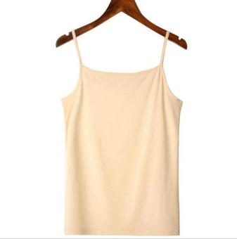 Harga Hely TOP Modal All-match Camisole Tank Top Undershirt(Apricot)