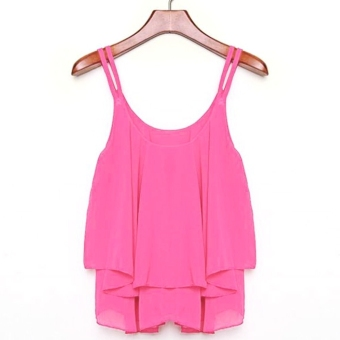 Harga Toprank Sleeveless Chiffon Loose Tank Top (Purple) - intl