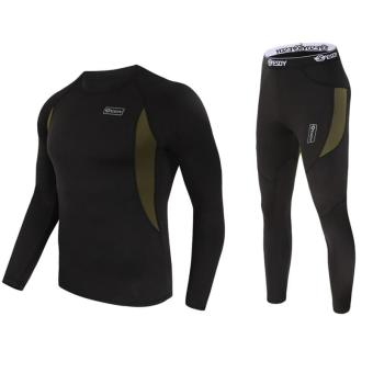 Harga Men's Ultra Soft Thermal Underwear Long Johns Set with Spandex Lined Black XXL - intl