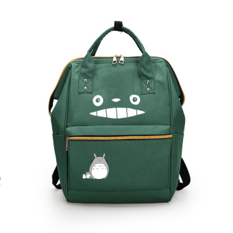 Harga Show luo spring anshan iron and steel company of the new japan anime my neighbor totoro shoulder bag canvas shoulder bag man bag school bag (Green white diagram)