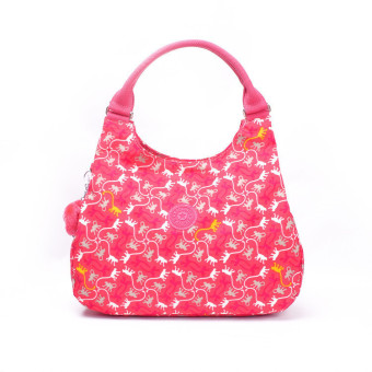 Harga Women's Girl Lady Waterproof Bagsational Handbag Shoulder Bag Top-Handle Bag (Pink Paradise Monkeys) - intl