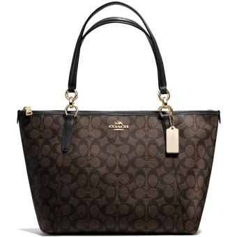Harga Coach Ava Tote In Signature Handbag Gold / Brown / Black # F58318