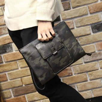 Harga Tidog Camo hand bag IPAD bag envelope clutch bag - intl