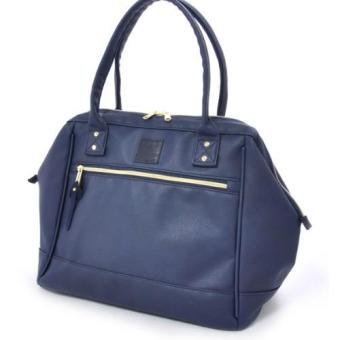 Harga Authentic Japan anello PU leather boston tote bag (Navy color)