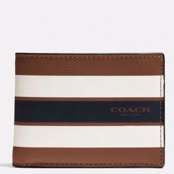 Harga Coach Men F75399 Compact ID Wallet (Saddle)