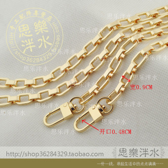 Harga Gold wide alloy chain