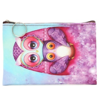 Variety Of Animal Patterns Coin Purse Key Holder Ring Zipper Wallet Pouch - intl