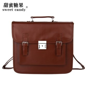 Harga Sweet candy/sweet candy uniform anime backpack bag college wind handbag retro briefcase (Brown)