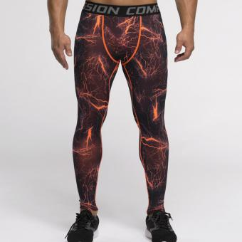 Harga Vansydical Workout Training Pants Men's sport Leggings Compression Baselayer Tights - intl