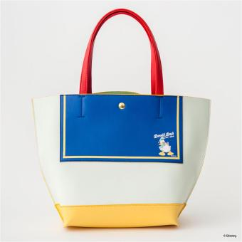 Harga Samantha Thavasa x COLORS by Jennifer Sky Tote Bag Disney Limited Collection Donald duck (M size, Blue+White+Yellow)