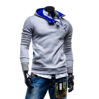 Fashion mens Sweatshirts hooded Sports sweater coat light grey Price in Singapore